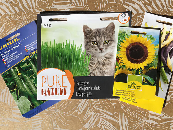 A range of seed packets from Eastern and Western Europe